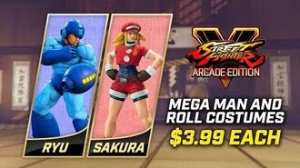 Street Fighter V Arcade Edition - Mega Man and Roll Costumes