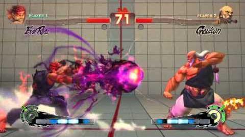 Evil Ryu's ultra 1 in Super Street Fighter 4 Arcade Edition
