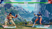 Forgotten Waterfall Ryu vs Chun-Li