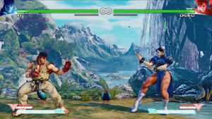 Forgotten Waterfall Ryu vs Chun-Li
