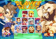 Super Gem Fighter mini Mix character select screen
