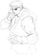 SSFII-Ryu intro concept-2