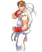 SFA2-Ryu fight stance