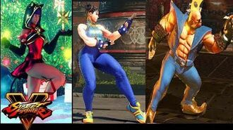 Street Fighter V NEW Holiday and Nostalgia(Street Fighter Alpha 1,2) Costumes for Street Fighter 5