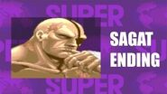 Super Street Fighter II Turbo - Sagat Ending