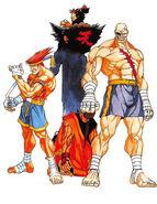 STREET FIGHTER ZERO2-Mook illustration