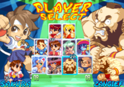 Gem Fighter character select screen