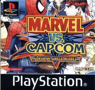 Marvel vs. Capcom Clash of Super Heroes (PSX - cubierta Europa)