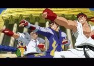 Namco × Capcom intro screenshot Ryu JinKazama HideoShimazu Bravoman