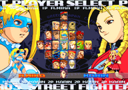 Street Fighter Alpha 3 Arcade Select Screen