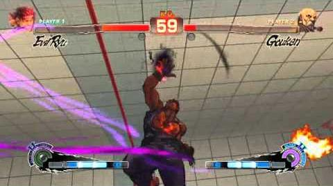 Evil Ryu's ultra 2 in Super Street Fighter 4 Arcade Edition