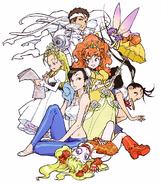 Kinu Nishimura Jin and Capcom Girls
