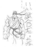 SFIII-Ryu rough sketch2