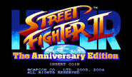 Hyper Street Fighter II The Anniversary Edition - title screen