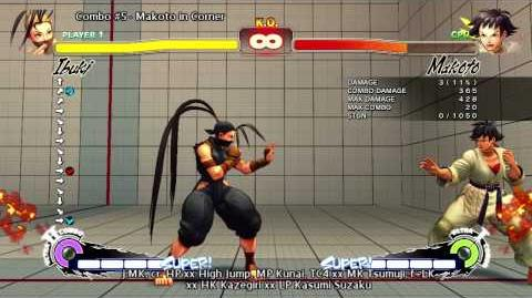 Super Street Fighter 4 Arcade Edition version 2012 - Ibuki Combo Video