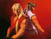 SFA-Ryu and Ken by Daichan