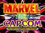 MvCapcom - Clash of Super Heroes - title screen