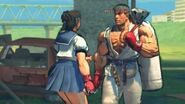 (Super) Street Fighter IV (AE) - Sakura's Rival Cutscene English Ver