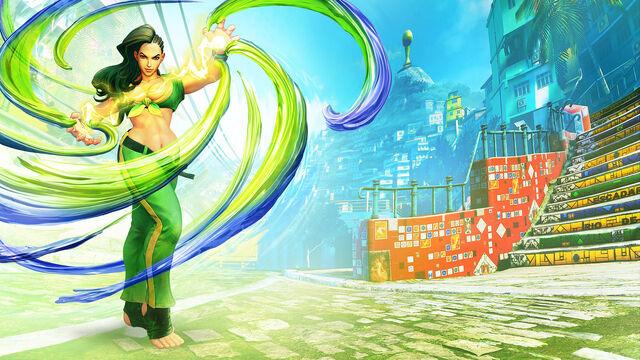 File:SFV Character Art Laura.jpg