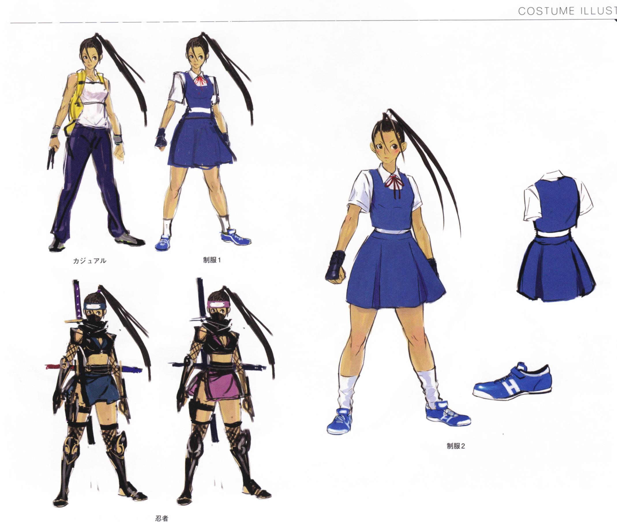 image ibuki alternate costumes concept art from super street