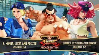 Street Fighter V Arcade Edition – E. Honda Lucia Poison Gameplay Trailer