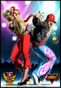 SFV Ryu and Chun-Li RedBull BC One Costumes Artwork