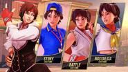 SFV Sakura's Costumes