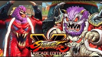 Street Fighter V Arcade Edition -Astaroth from Ghosts 'n Goblins crossover costume for M. Bison