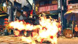 Burning kick