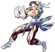 Street Fighter II Turbo Art Chun-Li Kikoken