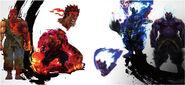 Evil Ryu and Oni-Hiroaki