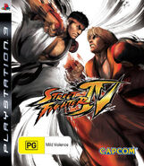 Street Fighter IV (PS3 - cubierta Australia)
