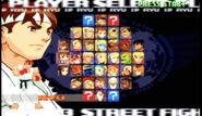 SFA3 Upper character select