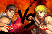 SFIV Ryu vs Ken versus screen