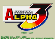 Street Fighter Alpha 3 Title Screen