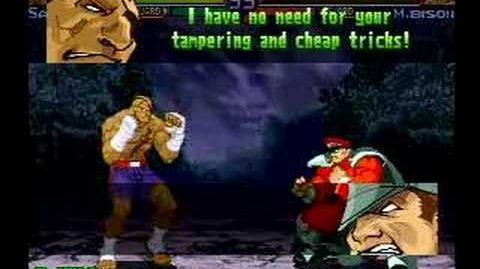 Street Fighter Alpha 3 Sagat's Full Storyline and Ending