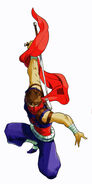 MvCapcom - Clash of Super Heroes - Strider Hiryu artwork