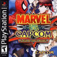 Marvel vs. Capcom Clash of Super Heroes (PSX - cubierta América del norte)