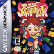 Super Puzzle Fighter II Turbo (GBA - cubierta América del Norte)