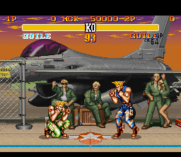SF2T SNES Guile Stage