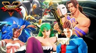Street Fighter V Arcade Edition NEW SKINS Darkstalkers - Morrigan, Demitri, Felicia SF5 & Classic