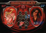 Capcom Fighting All Stars Character Select