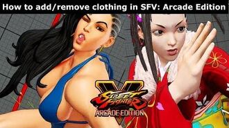 How to remove clothing in Street Fighter V Arcade Edition