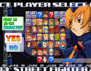 Street Fighter Alpha 3 PlayStation World Tour Setup Screen