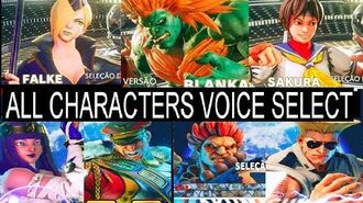 STREET FIGHTER 5 Arcade Edition SEASON 3.5 -ALL Characters Select Voice +NEW DLC FALKE