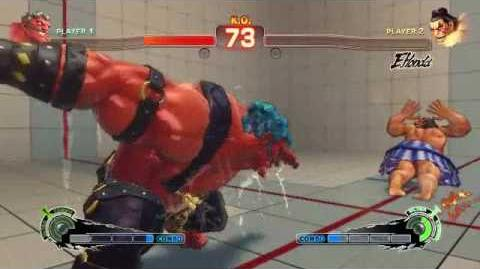 Super Street Fighter 4 - Hakan Ultra 1 Oil Coaster