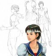 Sakura-streetfighter4-concept-sketches-by-daigo-ikeno