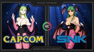Artwork Comparison of CAPCOM vs SNK (SNK vs CAPCOM) Side by Side Comparison