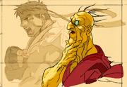 SFIIING-Oro ending concept