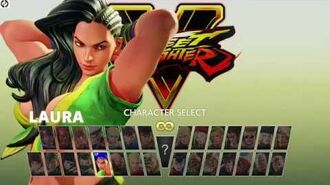 Street Fighter V arcade edition all mode characters selection screen ZERO